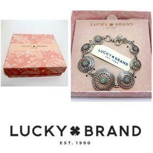 🍀Lucky Brand Silver Tone Openwork Bracelet